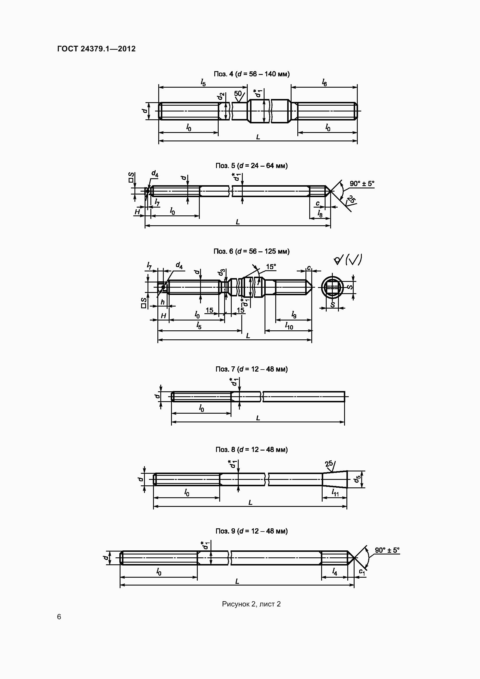 ГОСТ 24379.1-2012. Страница 12
