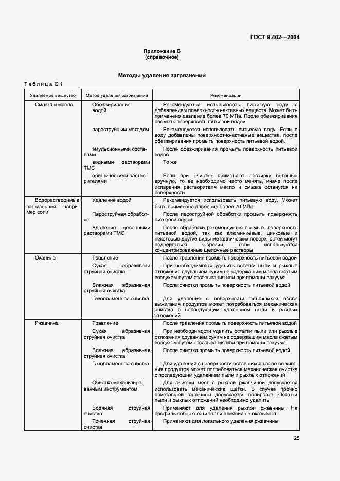 ГОСТ 9.402-2004. Страница 29