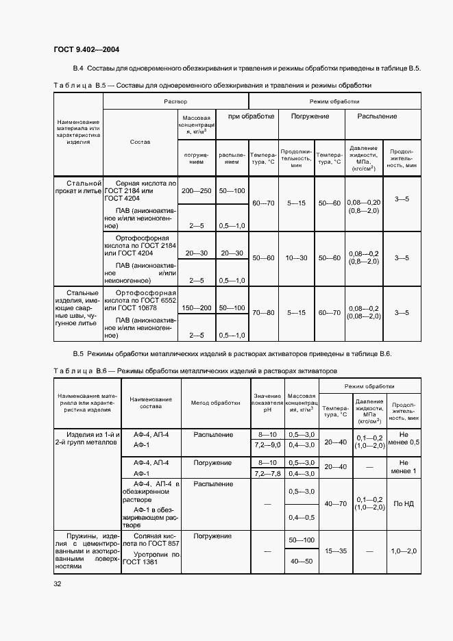 ГОСТ 9.402-2004. Страница 36