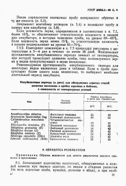 ГОСТ Зерновые и бобовые Определение скрытой  ГОСТ 28666 3 90 Страница 4
