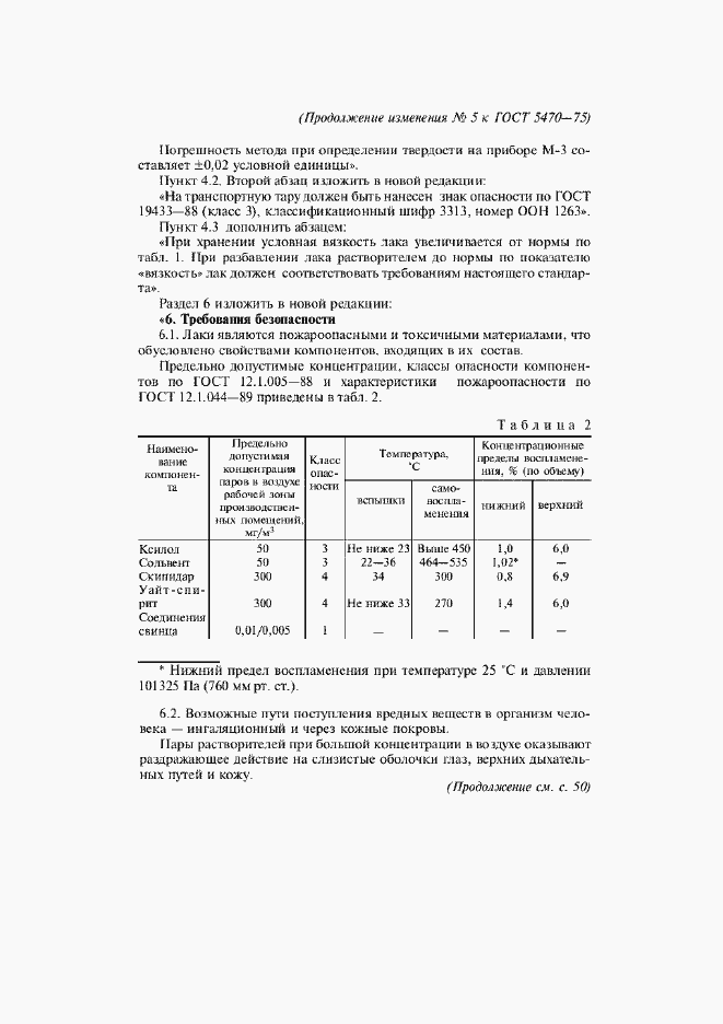 Изменение №5 к ГОСТ 5470-75